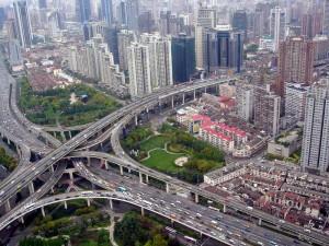 The Puxi Viaduct, Шанхай