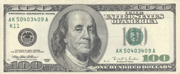 100 долларов США образца 1996 года