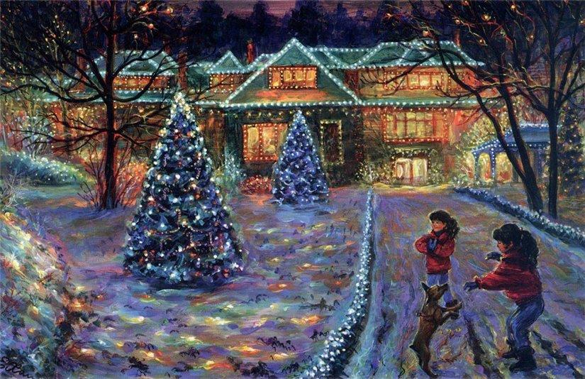 Новый год на полотнах художников