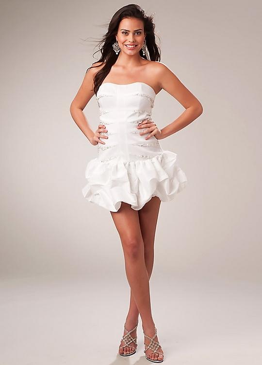 Белое коктейльное платье фото 5