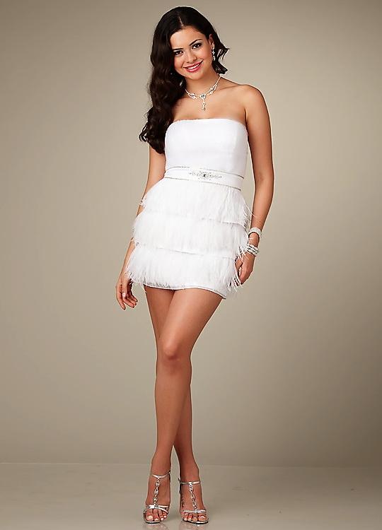 Сон платье белое короткое