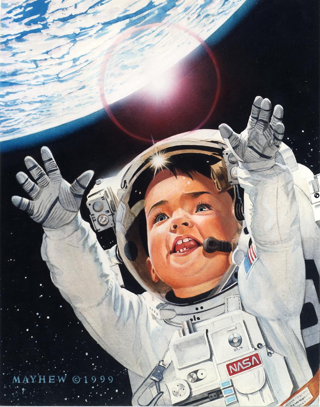 Ученые доказали что человек в космосе