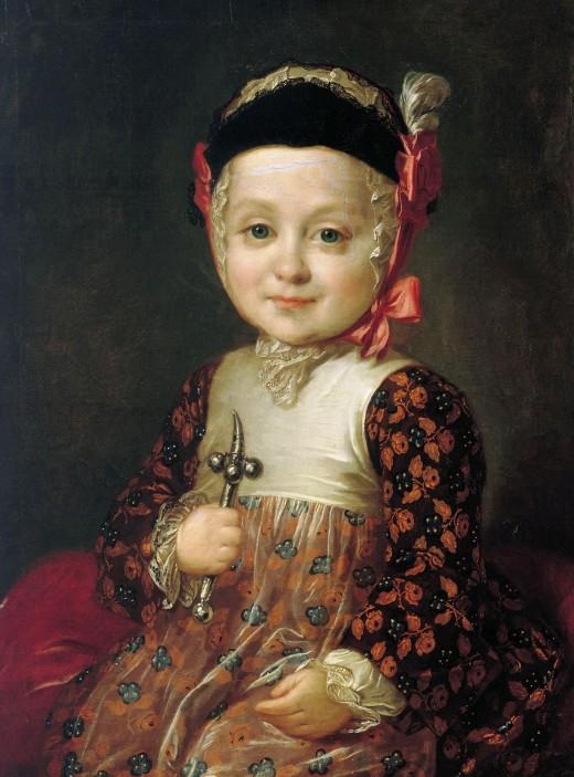 Рокотов Фёдор (1736 – 1809) «Портрет графа Бобринского в младенчестве» 1763
