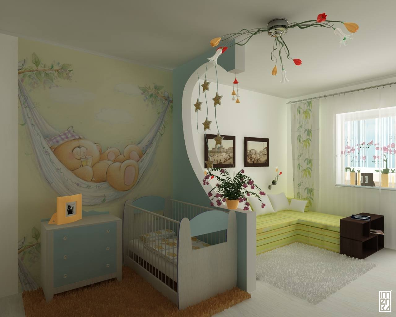 for Idee separation chambre salon
