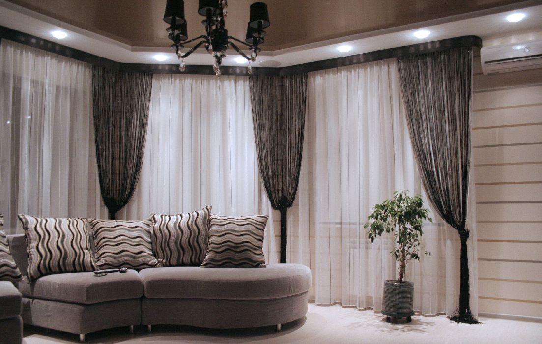 нитевые шторы фото в интерьере