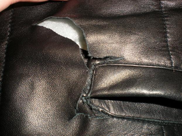 Как заклеить кожаную куртку