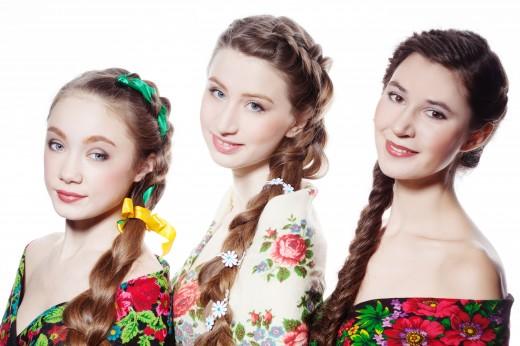 Прически к русско-народному танцу