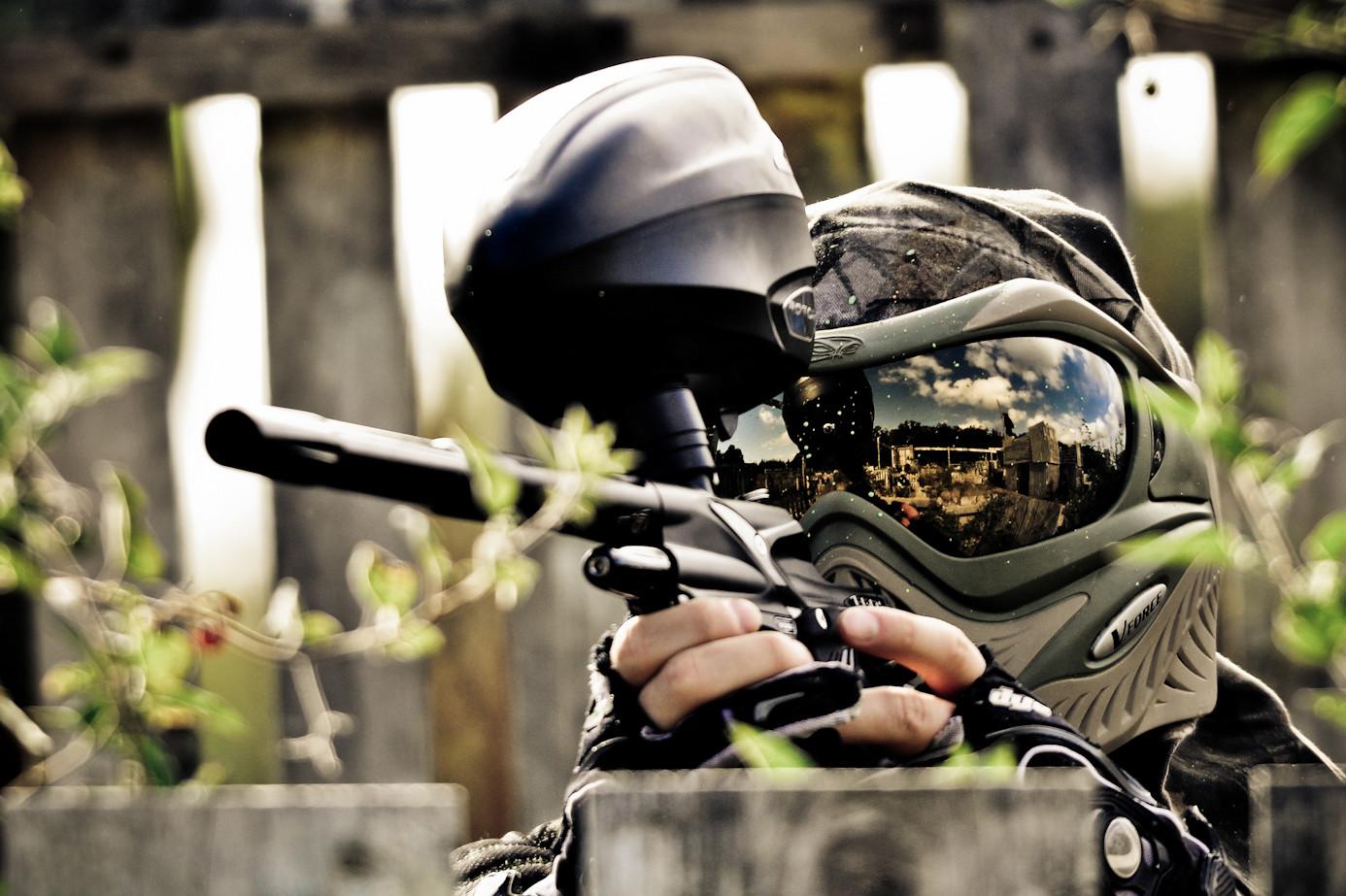 Пейтбол с вороненым оружием