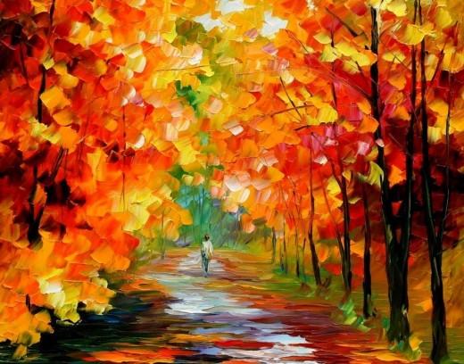 Осень - время для творчества художника