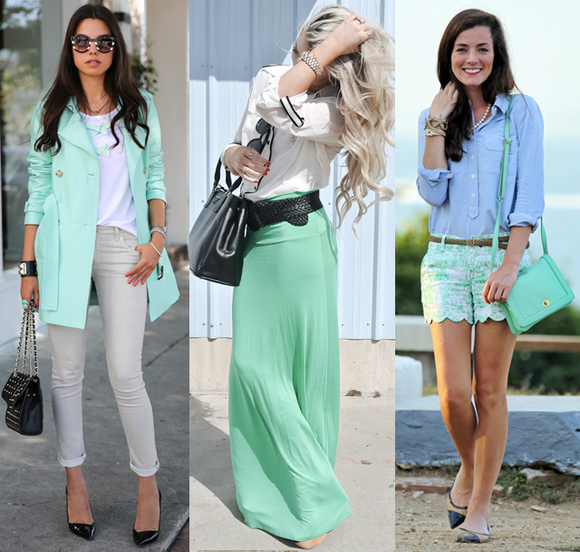 Colors That Match With Mint Green Spring Fashion Color Trends