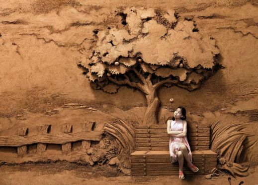 Удивительные песчаные скульптуры от китайского мастера