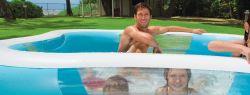 Преимущества надувного бассейна для дачи