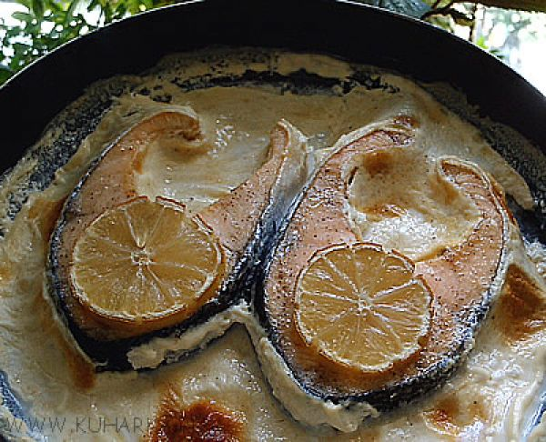 Сёмга в духовке со сливками рецепты в фольге