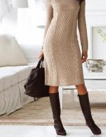 Чем удобны вязаные платья?