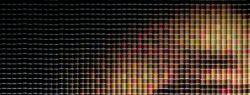 Картины из разноцветных катушек для ниток