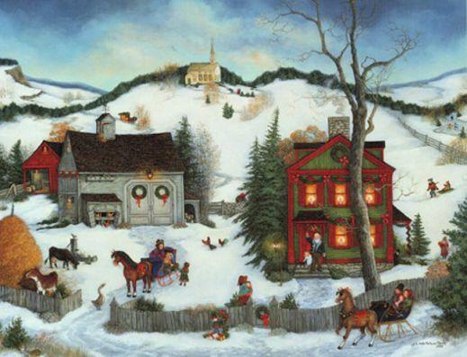 Новый год и Рождество в картинах великих художников
