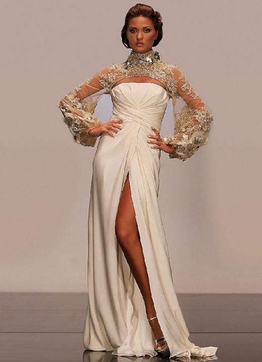 Белые вечерние платья.
