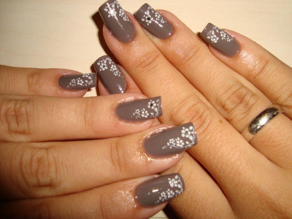 Дизайн ногтей деловой стиль