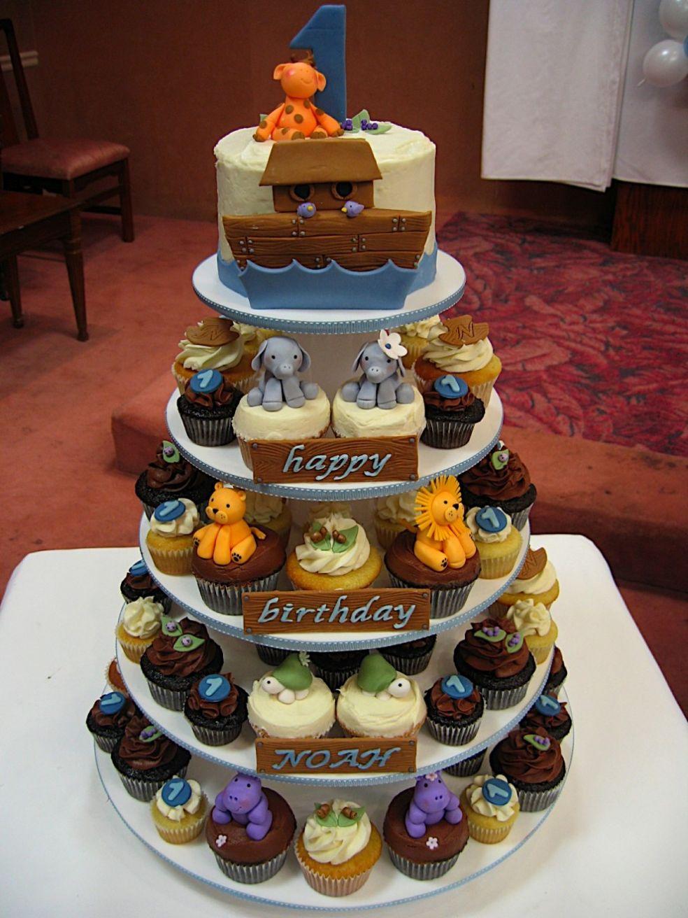 Ноев ковчег - торт из набора кексов