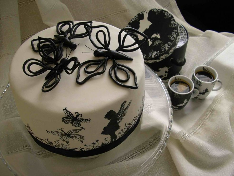 Original Cake using Fairies and Butterflies.
