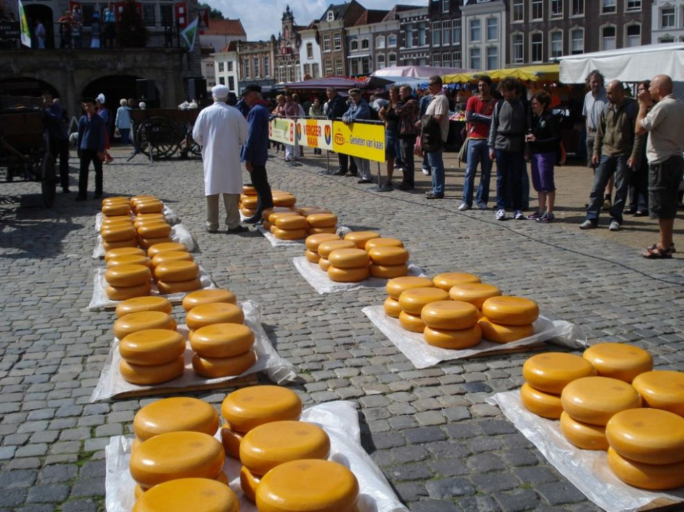 Сырный рынок в Гауде