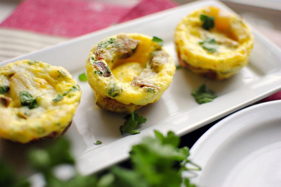 Суфле с картофелем и колбасками фото-рецепт