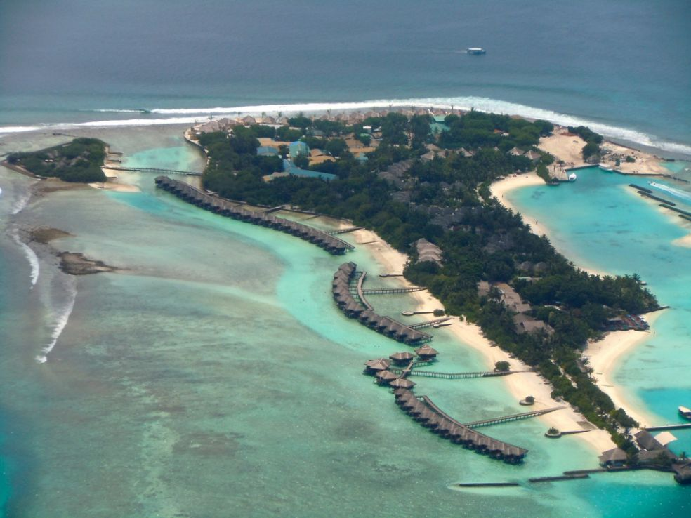 Рай в тропическом царстве посреди океана