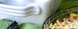 Сырная запеканка со шпинатом и артишоками